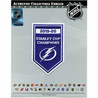 2020 NHL Stanley Cup Final Champions Tampa Bay Lightning Banner Jersey Patch