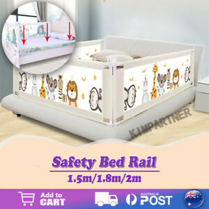 90CM Height Bed Rail BedRail Adjustable Folding Kids Safety Cot Guard Protecte