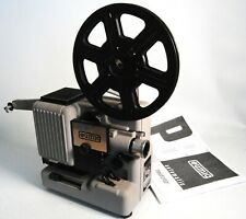 ⭐️ BOXED Eumig P8 Novo phonomatic 8mm Film Projector with Reel & Manual NEW BULB