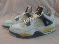 Nike Air Jordan Retro 4 IV LS Tour Yellow 2006 Rare Air Black 314254-171 Size 13