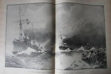 MARINE NAVIRE CONFLIT FRANCO TURC CONTRE AMIRAL CAILLARD  L'ILLUSTRATION de 1901