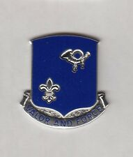 US ARMY 242nd INFANTRY REGIMENT crest DUI badge c/b clutchback G-23