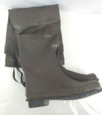 Caddis Rubber Hip Wader Wading Boots Sz 10 Fishing Good Condition Steel Shank