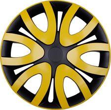 "4x Premium Diseño Tapacubos"" Mika ""15 pulgadas #78 en Amarillo Negro"