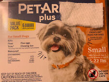 PetArmor Plus For Dogs Small 5-22lbs Flea And Tick Treatment! 6 Count, New!