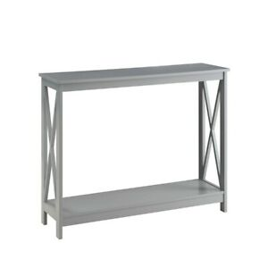 Convenience Concepts Oxford Console Table, Gray - 203099GY