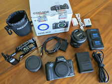 New listing  Canon Eos M50 + 18-55 Lens + SmallRig Cage + Mount Adapter + Four Batteries