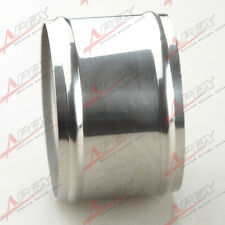 """Stainless Steel Hose Adapter Joiner Pipe Connector Silicone 89mm 3.5"""" New"""