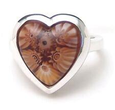 Sterling Silver Ring Murano Millefiori Heart Alan K Handmade Size 7 Brand New