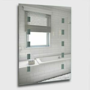 Modern Battery Operated Illuminated LED Bathroom Mirror Wall Light 6500K IP44