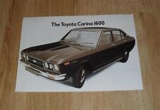 Toyota Carina 1600 Saloon Brochure - 1974