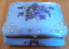 Vintage Norcrest Japan Blue Bonnet Porcelain butter Relish sauce Dish Box Chest
