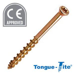 TONGUE-TITE® TRI-LOCK STAR DRIVE TONGUE AND GROVE SCREW 3.5 x 45 + BIT QTY 200