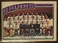 1976-77 OPC O-Pee-Chee Hockey Boston Bruins #133 Unmarked Team Checklist NM/MT