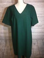 Julia Jordan Dress Plus Sz 22 Holiday Party Green V Neck Shift Size 22W