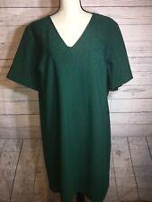 Julia Jordan Dress Plus Sz 18 Holiday Party Green V Neck Shift Size 18