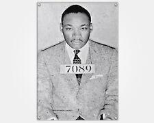 Martin L King MLK Montgomery Wood Print Mugshot Booking Photo Mug Shot Pop Art