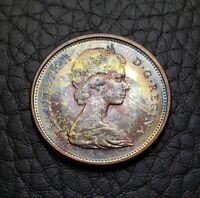 Toned Silver 1967 Canada 25 Cents Quarter