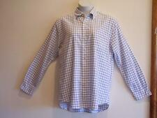 BODEN Blue & White Check Button Long Sleeve Dress or Casual Shirt  L