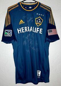 MLS LA Galaxy adidas 2013 Signed Landon Donovan Formotion Away Soccer Jersey