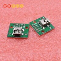 50PCS mini USB to DIP Adapter Converter for 2.54mm PCB Board DIY Power Supply