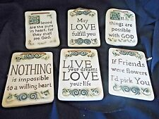 Ceramic Wise Words Wall Plaque Sign Inspirational Quotes Sentimental Love, God