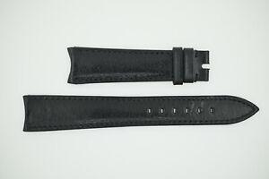 ROLEX Black Watch Strap 20/16 20mm NEW (SO642)