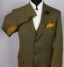 Burberry Tweed Blazer Jacket Brown 42L AMAZING QUALITY 3256