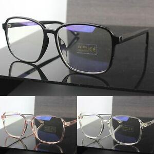 Anti Blue Light Fashion Glasses Large Lenses Womens Mens UV400