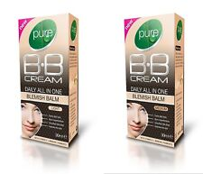 Pure BB Cream Daily All In One Blemish Balm Light OR Medium Vitamins Makeup 30ml