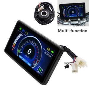 Universal Motorcycle LCD Speedometer Digital Odometer Multi-function Speed Meter