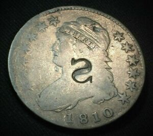 "1810 USA Capped Bust Silver Half Dollar with Reverse ""S"" C/S  KM# 37   (121)"