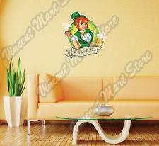 "Irish Girl St. Patrick's Day Beer Gift Wall Sticker Room Interior Decor 20""X25"""