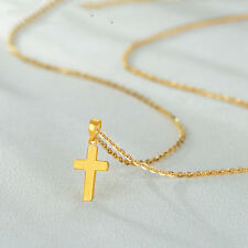 Fashion style Pure 24K Yellow Gold Pendant Lucky Women & Men Cross Pendant
