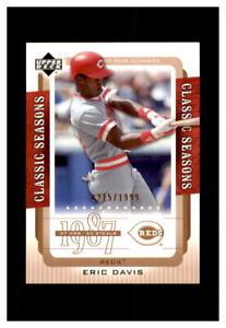 2005 Upper Deck Classics Classic Seasons 0215/1999 Eric Davis #CS-ED reds