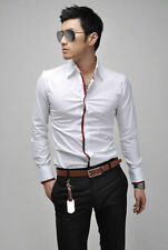 Men's Long Sleeve Stretch Cotton Blend Casual Shirts & Tops