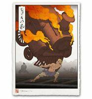 Final Fantasy VI FF 6 Sabin Phantom Train Japanese Edo Style Poster 12x17 Mondo