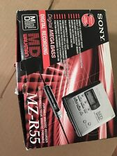 Brand New Sony Walkman MD MZ-R55 Portable Minidisc Recorder Gold/ Champagne.