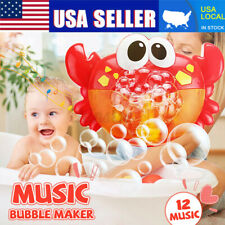 Kids Baby Bubble Crab Maker Machine Bath   Shower Toy Music Fun