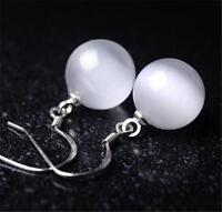 New fashion Elegant jewelry wholesale silver Opal Earrings S925 1CM
