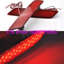 2x Red Len LED Bumper Reflector Marker Light For 2013-2015 Honda Civic Sedan 9th