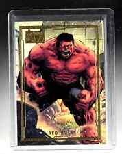 MARVEL Universe LIMITED 75TH GOLD EDITION #34 Red Hulk card 24/75