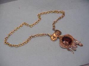 Vintage  Drippy  Stone Necklace