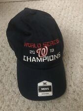 2019 NATS WASHINGTON NATIONALS CHAMPIONS World Series Blue Cap Hat Red