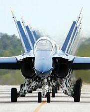 U.S. NAVY BLUE ANGELS TAXI INTO FLIGHT LINE 8x10 SILVER HALIDE PHOTO PRINT