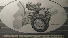 Simplicity Walk-Behind WARDS Tractor Snow Plow & Blower Owner & Parts (2 Manuals