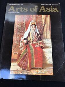ARTS OF ASIA Jan-Feb 1987 COSTUMES & WEAVINGS Issue TURKESTAN CARPETS/SILK TRADE