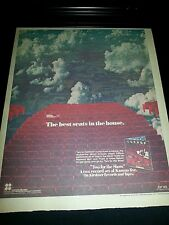 Kansas Two For The Show Rare Original Promo Poster Ad Framed!