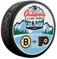 Boston Bruins v Philadelphia Flyers 2021 Lake Tahoe NHL Stadium Series Puck
