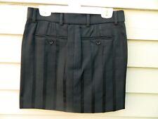 Mini Skirt Black Tone on Tone Cotton Stretch Euro size 36, US 6  Italian made